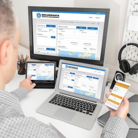SecureData - Secure Encrypted BlueTooth Drive Management via Web Console